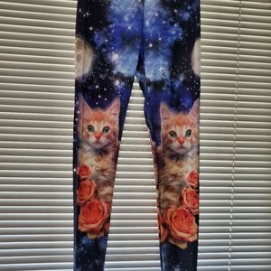 Galaxy cat leggings